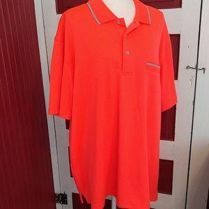 PGA Golf Polo Shirt Orange 2X